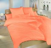 Krepové povlečení světle oranžové