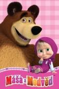 Máša a medvěd dětská fleecová deka