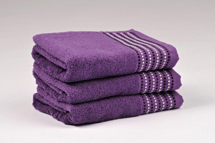 Ručníky a osušky TOVEL 500 g/m2 ručník fialový rozměr 50x90 cm.