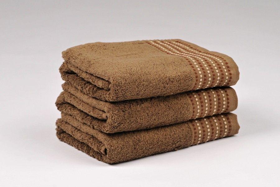 Ručníky a osušky TOVEL 500 g/m2 ručník hnědý rozměr 50x90 cm.
