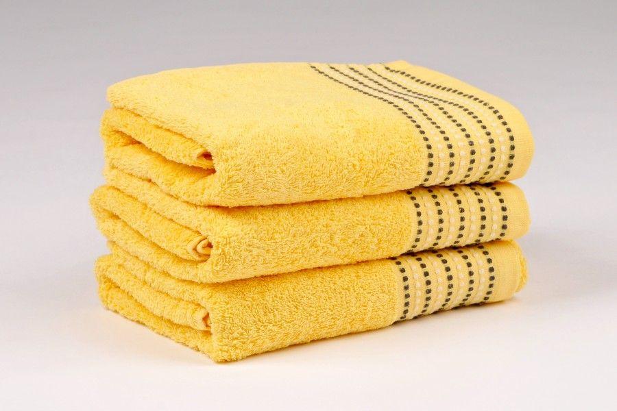 Ručníky a osušky TOVEL 500 g/m2 ručník žlutý rozměr 50x90 cm.