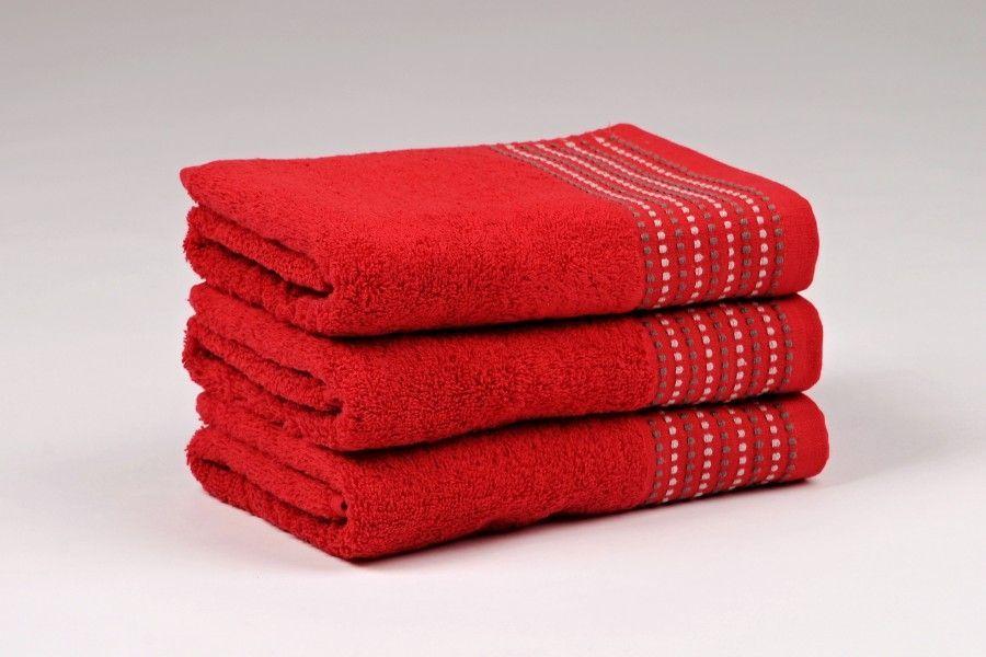 Ručníky a osušky TOVEL 500 g/m2 ručník červený rozměr 50x90 cm.