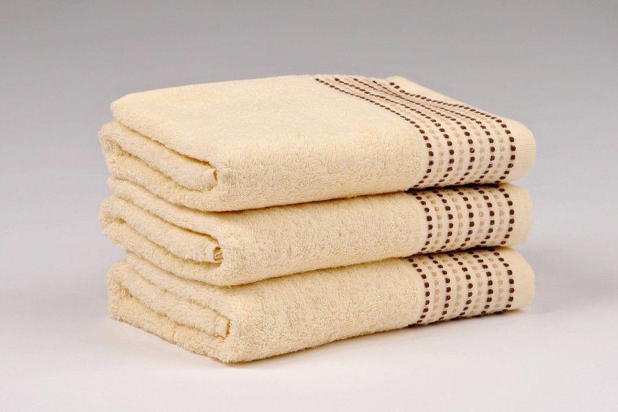 Ručníky a osušky TOVEL 500 g/m2 ručník smetanový rozměr 50x90 cm.
