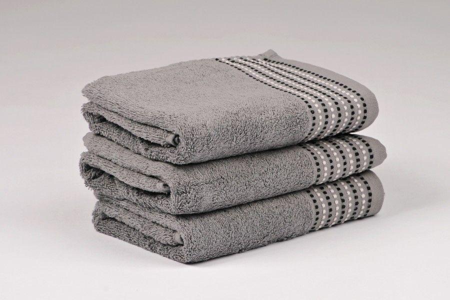 Ručníky a osušky TOVEL 500 g/m2 ručník šedý rozměr 50x90 cm.
