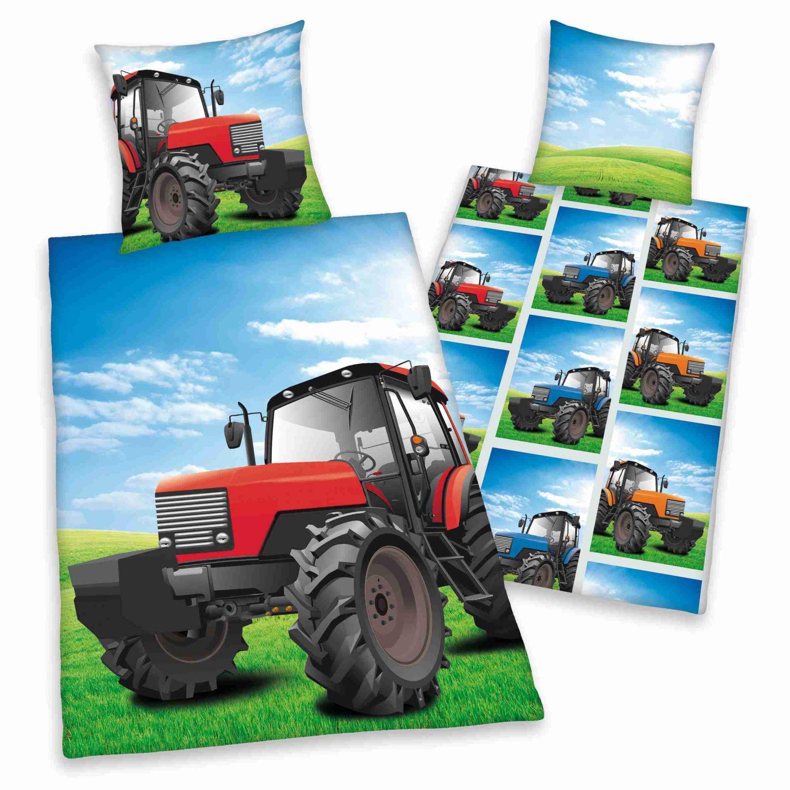 Bavlněné ložní povlečení Traktor