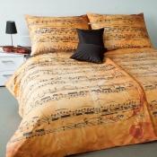 Pro milovníky hudby luxusní damaškové ložní povlečení Geon Melodi Pergamen, Veba