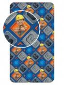 Pro kluky bavlněné dětské ložní prostěradlo Bořek Stavitel 002, Jerry Fabrics