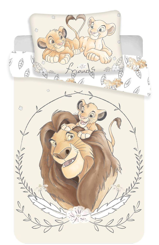 Disney povlečení do postýlky Lion king yellow baby Jerry Fabrics